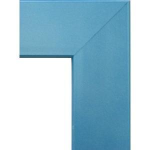 額縁 オーダーメイド額縁 オーダーフレーム デッサン用額縁 5659 ブルー 組寸サイズ500 インチ|touo