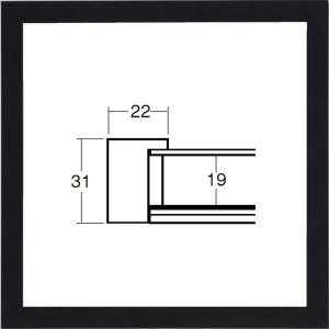額縁 正方形の額縁 木製フレーム 5660 500角サイズ|touo