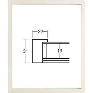 額縁 横長の額縁 木製フレーム 5660 サイズ300X150mm|touo