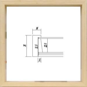 額縁 正方形の額縁 木製フレーム 5881 200角サイズ|touo