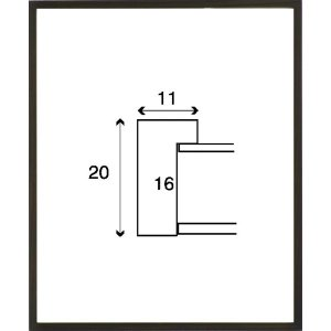 額縁 正方形の額縁 木製フレーム 6708 200角サイズ|touo