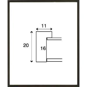デッサン額縁 フレーム 水彩額縁 スケッチ額縁 木製 正方形の額縁 6708 400角サイズ|touo