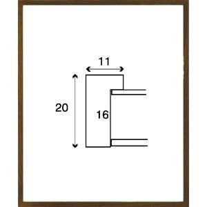 デッサン額縁 フレーム 水彩額縁 スケッチ額縁 木製 正方形の額縁 6708 350角サイズ|touo