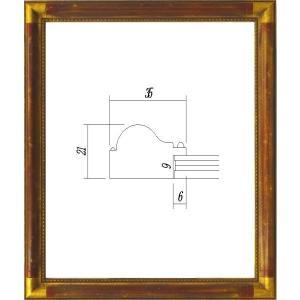 額縁 デッサン額縁 木製フレーム 7510GR- MO判サイズ|touo