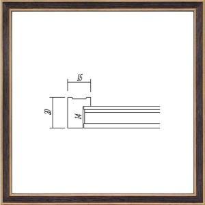 デッサン額縁 フレーム 水彩額縁 スケッチ額縁 木製 正方形の額縁 7910 350角サイズ|touo