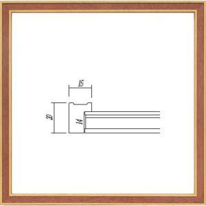 額縁 正方形の額縁 木製フレーム 7910 250角サイズ|touo