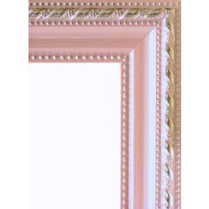 額縁 オーダーメイド額縁 オーダーフレーム デッサン用額縁 8131 ピンク 組寸サイズ800 四ッ切|touo