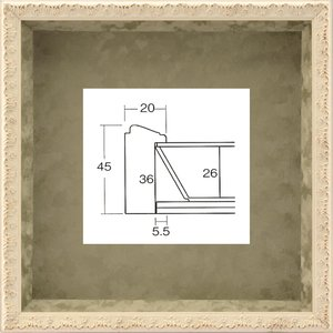 額縁 正方形の額縁 木製フレーム ボックスフレーム 8210 200角サイズ|touo