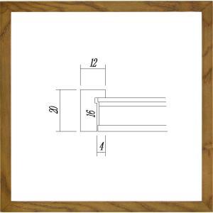額縁 正方形の額 木製フレーム UVカットアクリル仕様 9102 250角サイズ|touo