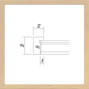 額縁 正方形の額縁 木製フレーム 9102 350角サイズ|touo