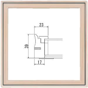額縁 正方形の額縁 木製フレーム 9105 200角サイズ|touo