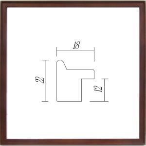 デッサン額縁 フレーム 水彩額縁 スケッチ額縁 木製 正方形の額縁 9787 500角サイズ|touo