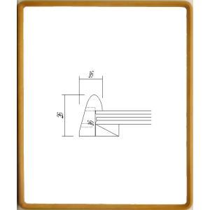額縁 横長の額縁 木製フレーム 9795 サイズ500X250mm|touo