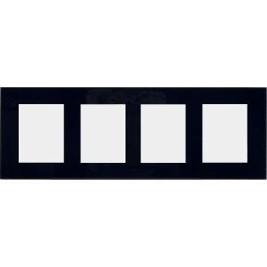額縁 アートフレーム 色紙額縁 ガラス製 5000 ハガキ四ッ窓|touo