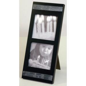 額縁 フォトフレーム 写真立て 木製 5305 10cm角X2ッ窓サイズ|touo
