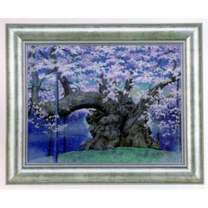版画 リトグラフ 広森 雄作 「山高神代桜(悠久の時)」|touo