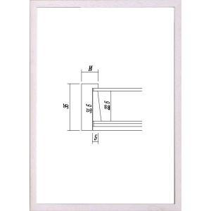 額縁 OA額縁 ポスター額縁 木製フレーム マルチボックスフレーム 5881 B3サイズ|touo