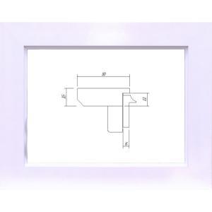 額縁 油絵額縁 油彩額縁 MDF製フレーム ガラス付 3450 サイズSM|touo