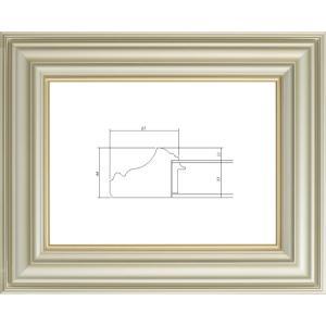 額縁 油絵額縁 油彩額縁 樹脂製フレーム アクリル付 3455 サイズWF6号|touo