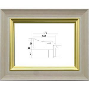 額縁 油絵額縁 油彩額縁 木製フレーム アクリル付 3484 サイズM0号|touo