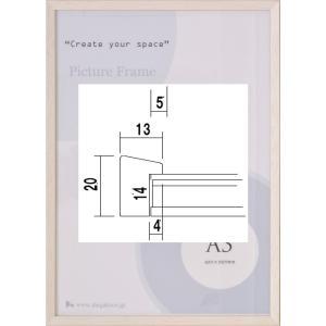 額縁 OA額縁 ポスター額縁 木製フレーム 5891 B4サイズ 364X257mm|touo