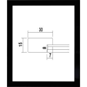 額縁 OA額縁 ポスター額縁 木製 5906 カラーパネル UVカットPET使用 A3サイズ 420X297mm|touo