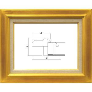 額縁 油絵額縁 油彩額縁 木製フレーム ガラス付 7711 サイズP3号|touo