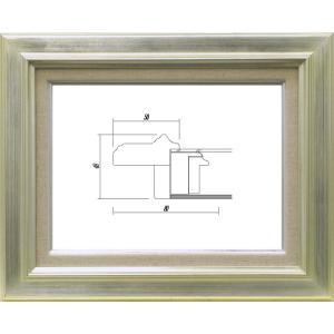 額縁 油絵額縁 油彩額縁 木製フレーム ガラス付 7711 サイズP4号|touo