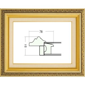 額縁 油絵額縁 油彩額縁 樹脂製フレーム ガラス付 9586 サイズSM|touo