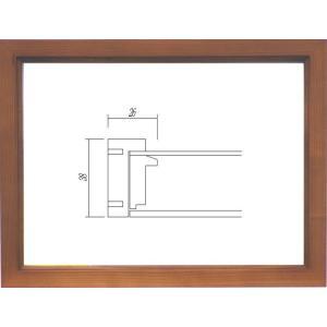 額縁 油絵額縁 油彩額縁 木製フレーム ガラス付 9978 サイズF4号|touo