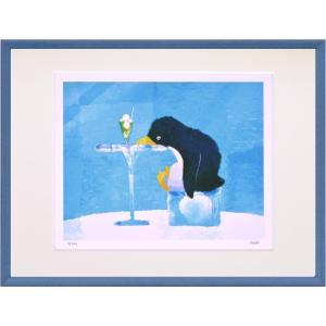絵画 デジタル版画 インテリア 壁掛け (額縁 アートフレーム付き) 菜生作 「あぁひんやり」 太子サイズ|touo