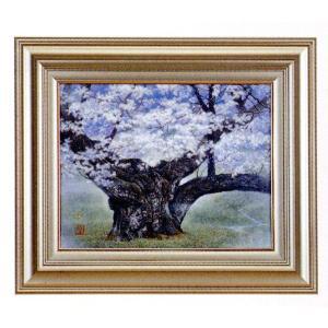 絵画 壁掛け 版画 リトグラフ 広森 雄作 「淡墨桜(幻奏譜)」|touo