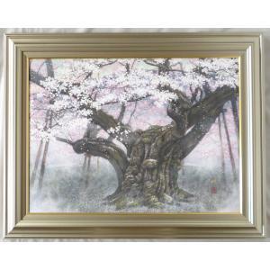 絵画 壁掛け 版画 リトグラフ 広森 雄作 「淡墨桜(越天楽)」|touo