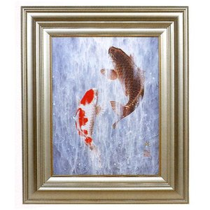 絵画 壁掛け 版画 リトグラフ 広森 雄作 「吉祥昇鯉」|touo