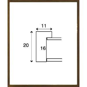 額縁 正方形の額縁 木製フレーム 6708 350角サイズ|touo