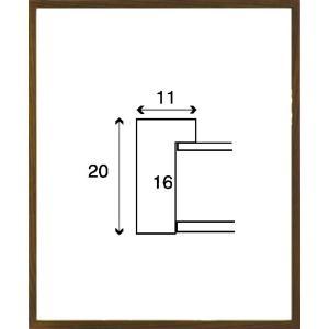 額縁 デッサン額縁 木製フレーム 6708 インチサイズ|touo