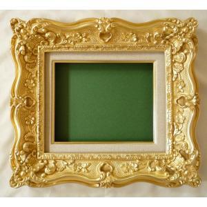 油絵額縁 油彩額縁 アートフレーム 木製 8885 サイズF8号|touo