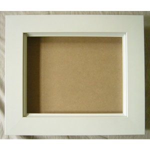 油絵額縁 油彩額縁 木製フレーム 3450 UVアクリル ホワイト サイズM15号 touo