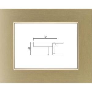 油絵額縁 油彩額縁 木製フレーム 3463 UVアクリル ゴールド サイズM15号 touo
