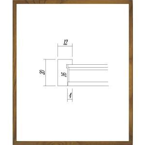 額縁 正方形の額縁 木製フレーム 9102 150角サイズ|touo