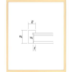 デッサン額縁 フレーム 水彩額縁 スケッチ額縁 木製 正方形の額縁 9102 200角サイズ|touo