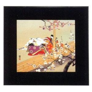 絵画 インテリア アートポスター 壁掛け (額縁 アートフレーム付き) 東 聖観(木下勝功)作 「紅梅に寄せて」|touo