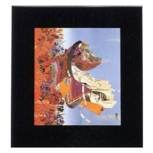 絵画 インテリア アートポスター 壁掛け (額縁 アートフレーム付き) 東 聖観(木下勝功)作 「野分/花の嵐」|touo