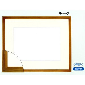 額縁 水彩額縁 木製フレーム 9787 サイズF8号|touo