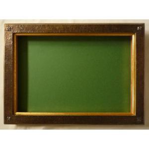 油絵額縁 油彩額縁 アートフレーム 木製 9964N サイズP6号|touo