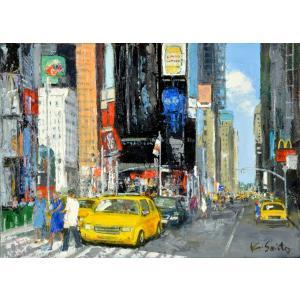 絵画 油絵 肉筆絵画 壁掛け ( 油絵額縁 アートフレーム付きで納品対応可 ) NO.39 SMサイズ 「ニューヨーク」 斎藤 要|touo