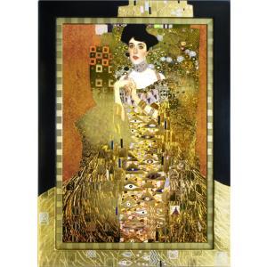 絵画 インテリア アートポスター 壁掛け (額縁 アートフレーム付き) クリムト作 「バウワーの肖像」|touo