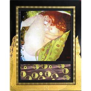 絵画 インテリア アートポスター 壁掛け (額縁 アートフレーム付き) クリムト作 「ダナエ」|touo