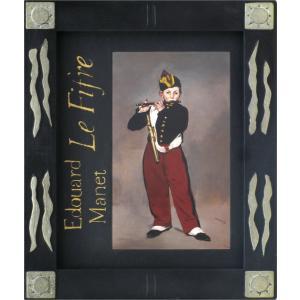 絵画 インテリア アートポスター 壁掛け (額縁 アートフレーム付き) マネ作 「笛を吹く少年」|touo