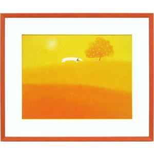 絵画 インテリア アートポスター 壁掛け (額縁 アートフレーム付き) 葉 祥明作 「ピクニックに行こう!」|touo